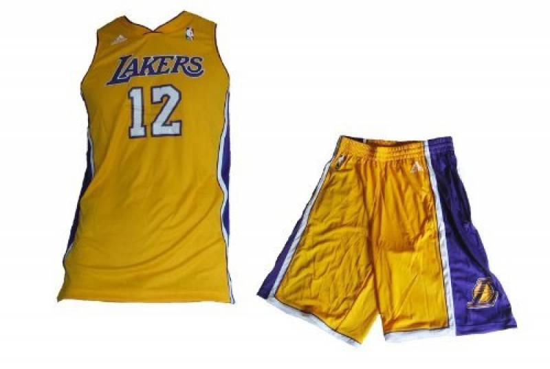 Adidas - Maillot et short NBA dwight Howard Los angeles Lakers pour junior et enfant adidas jaune taille - 16 ans de la marque adidas TOP 2 image 0 produit
