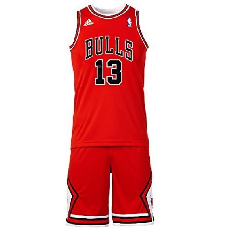 3dc885091108a Adidas - Maillot et short NBA Joachim Noah chicago Bulls pour Enfant et  junior adidas rouge