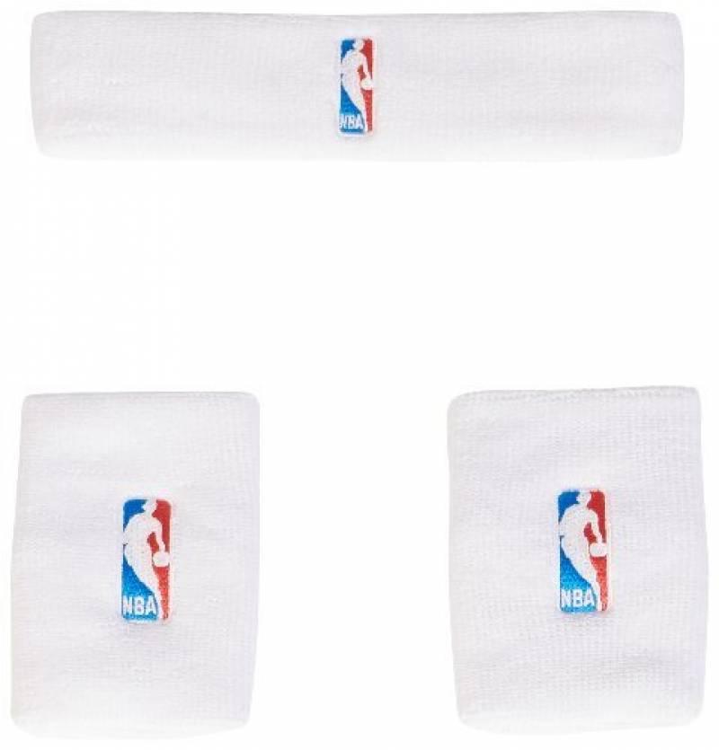 adidas NBA Serre-poignet + bandeau Homme Blanc/Noir de la marque adidas TOP 4 image 0 produit