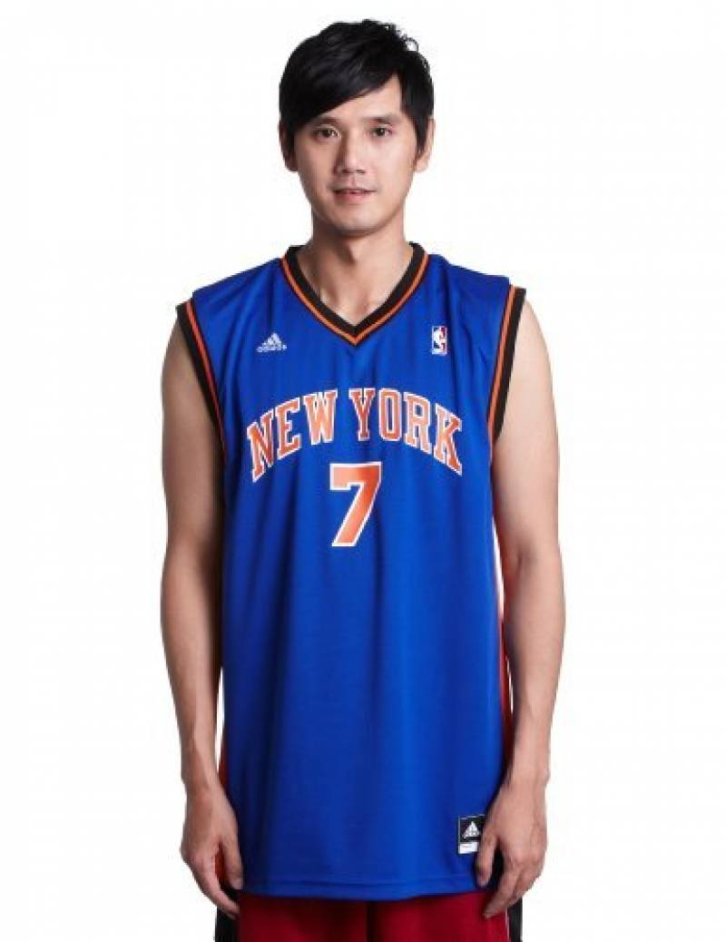 Carmelo Anthony Adidas New York Knicks Blue Revolution Replica Jersey Maillot de la marque adidas TOP 1 image 0 produit