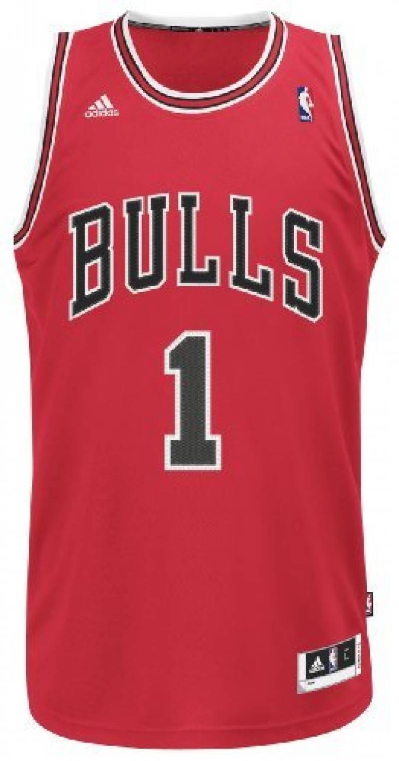 Derrick Rose Chicago Bulls Adidas Revolution 30 Red Swingman Jersey Maillot de la marque adidas TOP 4 image 0 produit