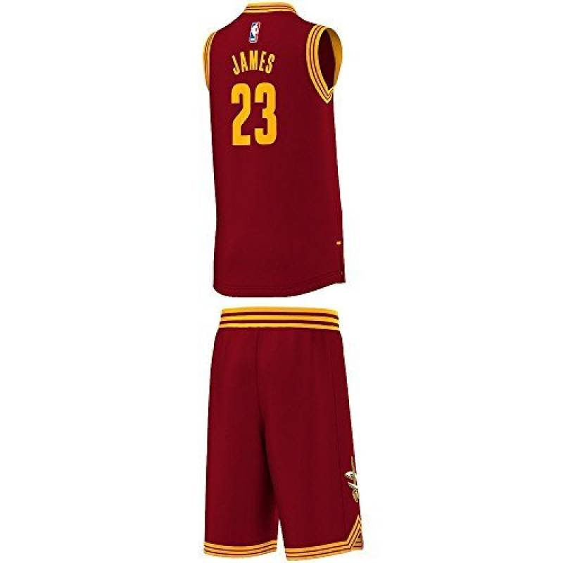 Kit Cavaliers Lebron James N°23 Rouge Junior de la marque adidas TOP 11 image 0 produit