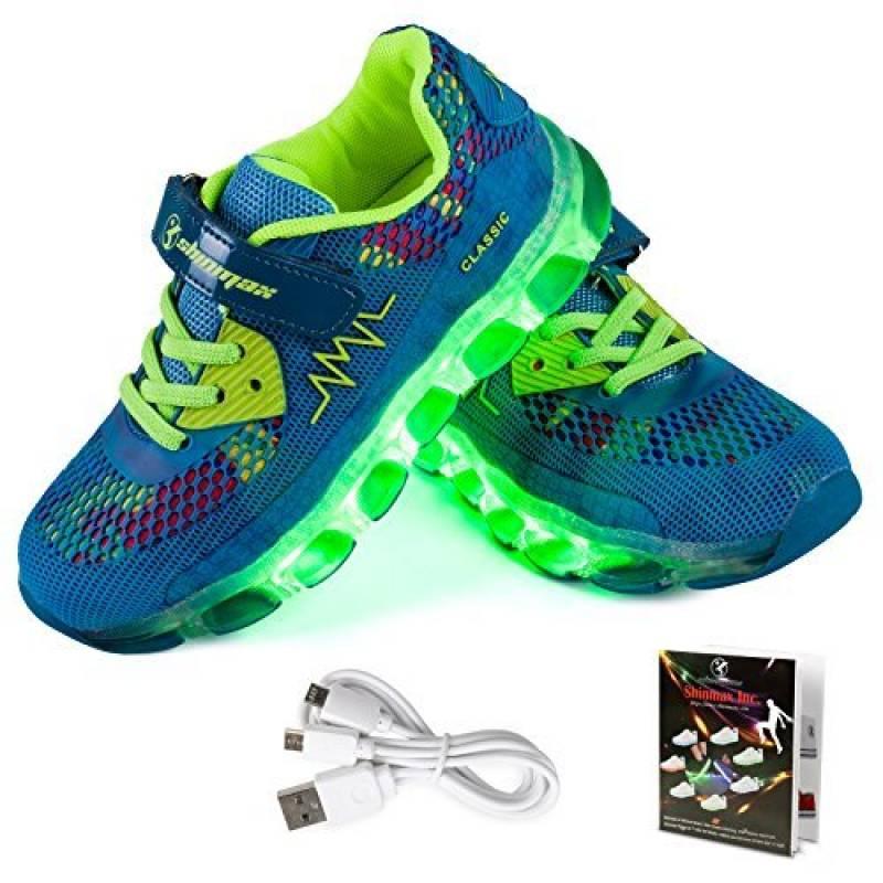 LED Chaussures,Shinmax Printemps-Été-Automne Respirante Lumineuse Chaussure USB Rechargeable Enfant LED Basket Clignotants Chaussures avec CE Certificat pour Fi TOP 15 image 0 produit