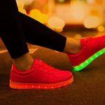 SAGUARO® Unisexe Enfant Adulte 7 couleurs LED chaussure clignotante basket lumineuse de la marque SAGUARO TOP 9 image 4 produit