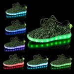 Shinmax LED ChaussuresLED Chaussures,Shinmax Chaussure LED Sports Basket Lumineuse 7 Couleur USB Charge Chaussure Clignotants pour Unisexe Homme Femme Garçon Fi TOP 7 image 1 produit