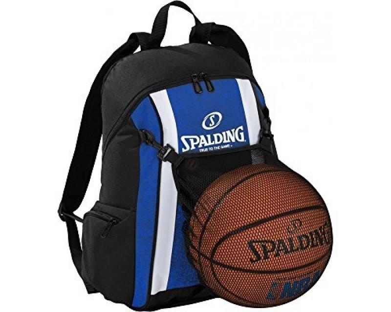 Spalding Ballon de basketball Sac à dos Bleu Royal/Noir incl. réseau de la marque Spalding TOP 10 image 0 produit