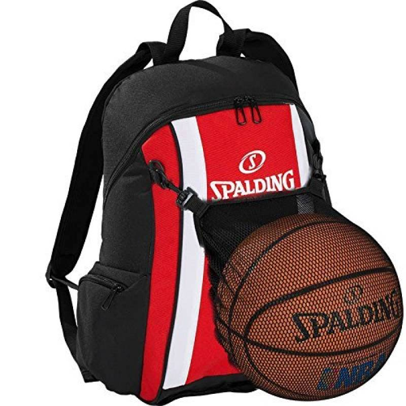 Spalding Ballon de basketball Sac à dos Rouge/noir incl. Filet + Gourde OFFERTE de la marque Spalding TOP 5 image 0 produit