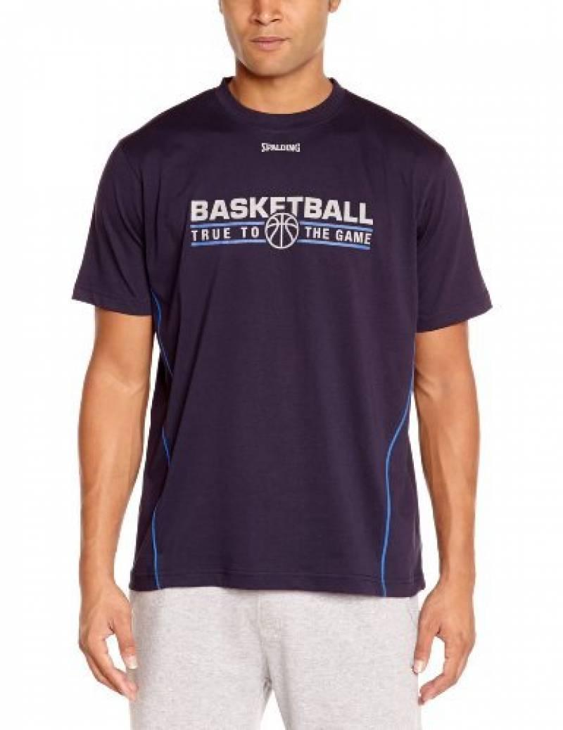 Spalding Team T-Shirt de basketball homme Bleu Marine/Bleu de la marque Spalding TOP 13 image 0 produit