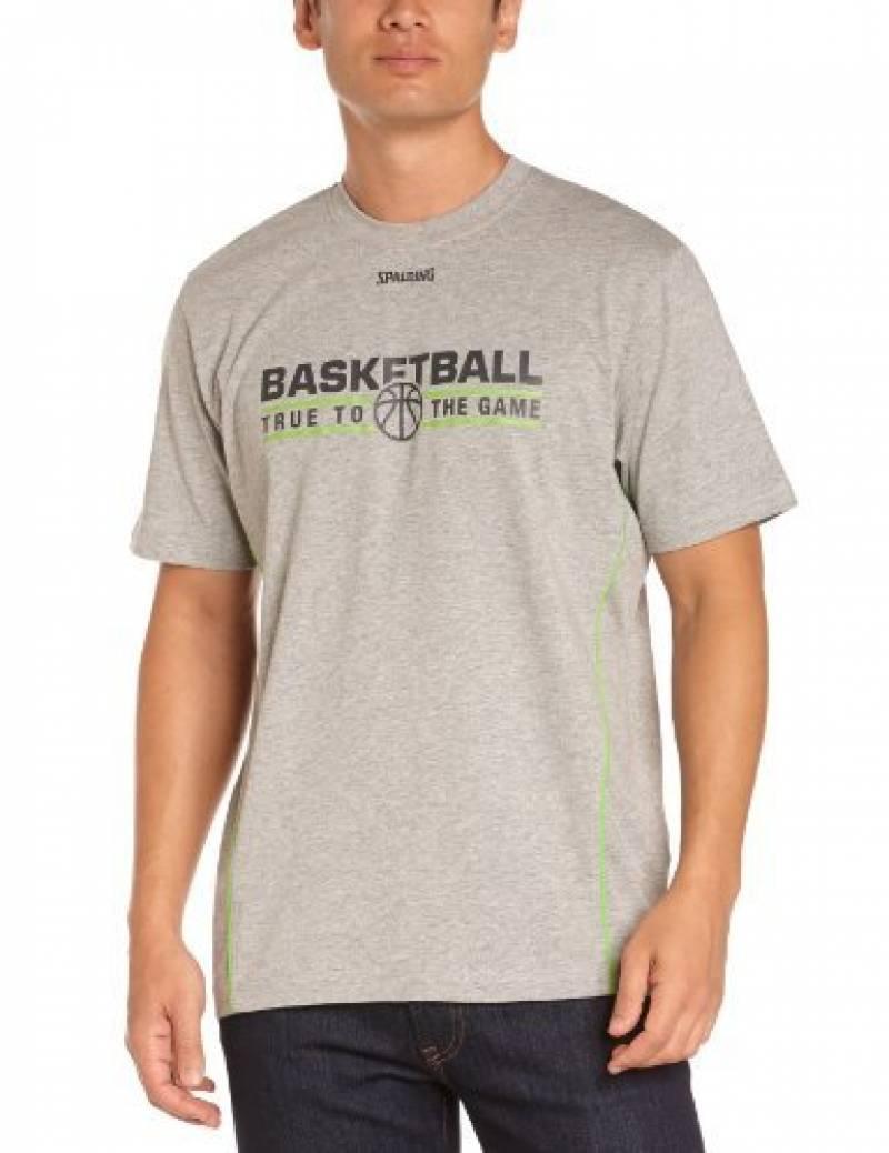 Spalding Team T-Shirt de basketball homme Bleu Marine/Bleu de la marque Spalding TOP 3 image 0 produit