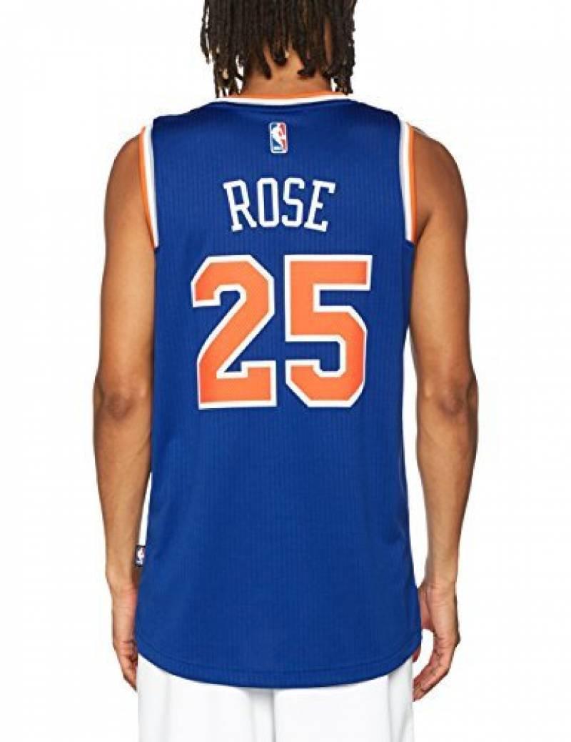 027e8c9940c34 Adidas - Maillot NBA Derrick Rose New York Knicks adidas swingman Bleu pour  Homme de la